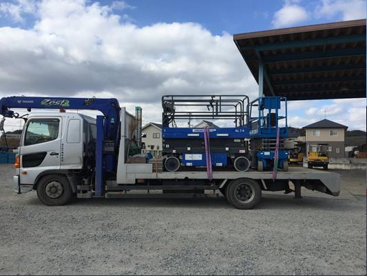 7t移動式クレーン車(ユニック車)重機運搬車・回送車 高所作業車運搬