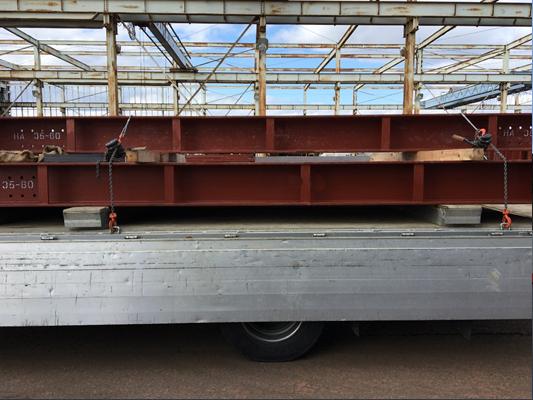 7t移動式クレーン車(ユニック車)重機運搬車・回送車 H型鋼運搬